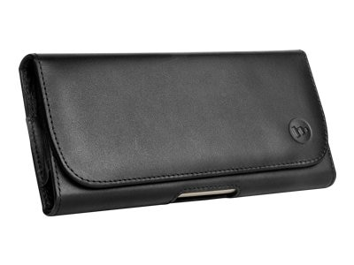 Zagg International mophie Holster bag for cell phone leather black for Apple iPhone 6 Plus 3107