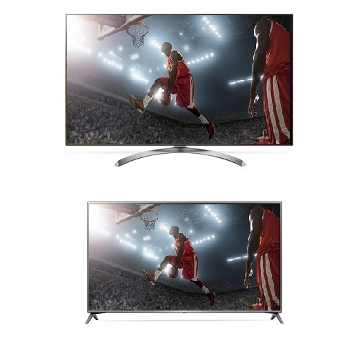 LG 65 Inch 4K Super Ultra HD Smart TV with HDR 65SJ8500 UHD TV with LG 49 Inch 4K Ultra HD Smart TV