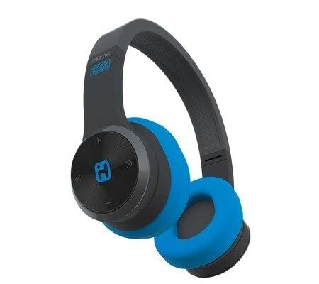 iHome iB88 - Headphones with mic - full size - wireless - Bluetooth