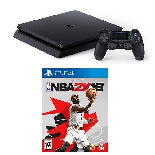 Click here for PlayStation 4 Slim 1TB Console with NBA 2K18 prices