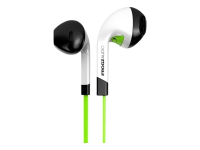 Zagg International Ifrogz Audio InTone Headset in ear noise isolating green IF ITN GRN