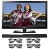 LG 42-inch 42LM3700 1080p LED LCD 3D TV and Sound Bar System w/4 Pairs of 3D Glasses