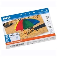 100 Sheets of Dell Premium 4x6 Photo Paper