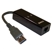 Dell 56 Kbps External USB Modem for Select Dell Inspiron / Latitude / Studio / Vostro / XPS Laptops