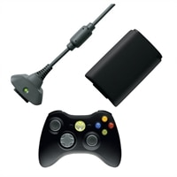 A4049188 Xbox 360 Wireless Controller w/ Play & Charge Kit (QFF 00001)   $40 Delivered