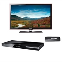 Samsung UN46C5000 46 inch 1080p LED HDTV with BD C550 Blu Ray Player and Linkstick Wireless USB 2.0 Adapter Bundle   $897 + Free Shipping