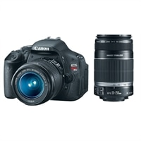 Discount Electronics On Sale Canon Canon EOS Rebel T3i 18 MP Digital SLR Camera Bundle with EF-S 18-55 mm IS II Lens and EF-S 55-250 mm f/4-5.6 IS Telephoto Zoom Lens