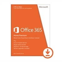 Microsoft Corporation Download - Microsoft Office 365 Home Premium - 5 PC's - 1 Year Subscription