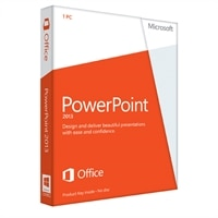Microsoft Corporation Microsoft Corporation Microsoft PowerPoint 2013 - License - 1 PC - Spanish