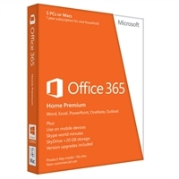 Microsoft Corporation Microsoft Office 365 Home Premium - 5 PC's - 1 Year Subscription