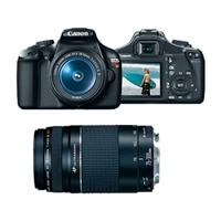 Canon Canon EOS Rebel T3 12.2 MP Digital SLR Camera with 18-55mm IS Lens and EF 75-300 mm f/4 - 5.6 III Telephoto Zoom Lens