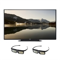 SHARP Sharp 70-inch LED Smart TV - LC70LE757U Quattron 3D HDTV with 2 Pairs of 3D Active Glasses