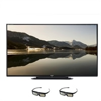 SHARP Sharp 80-inch LED Smart TV - LC-80LE757U Aquos 3D HDTV with 2 pair of 3D Glasses