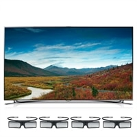 Samsung Samsung 55-inch LED Smart TV - UN55F8000 3D HDTV with 4 Pairs of 3D Active Glasses