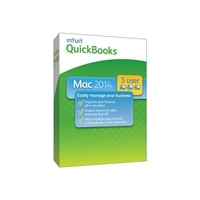 Intuit QuickBooks 2014 for Mac - Complete package - 3 users - CD - Mac