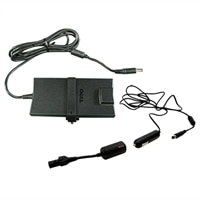 Dell Dell 90-Watt 3 Prong Slim AC Adapter with 6.56 ft Power Cord and 90-Watt Auto Air DC Adapter for Select Dell Latitude / Vostro / Inspiron / XPS / Precision