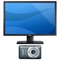 "24"" Widescreen Monitor & 12.1MP Digital Camera"