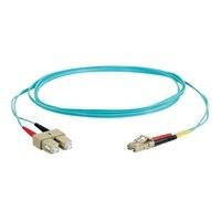 C2G LC-SC 10Gb 50/125 OM3 Duplex Multimode PVC Fiber Optic Cable (LSZH) - síťový kabel - 1 m - vodě - barva