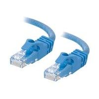 C2G Cat6 550MHz Snagless Patch Cable - Patch kabel - RJ-45 (M) - RJ-45 (M) - 50 cm (19.69'') - CAT 6 - lisovaný, vinutý, bez p?ekážek, zavedený - modrá