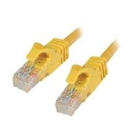 C2G Cat6 550MHz Snagless Patch Cable - Patch kabel - RJ-45 (M) - RJ-45 (M) - 3 m (9.84 ft) - CAT 6 - lisovaný, vinutý, bez p?ekážek, zavedený - žlutá