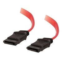 C2G 0.5m dlouhý kabel SATA se 7 kolíky a možností otočení o 180° pro připojení jednoho zařízení