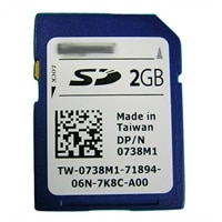 2GB SD kort ONLY for Interne SD-moduler (No moduler Included) - sæt
