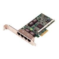 Dell Broadcom 5719 Fire porte 1 Gigabit -netværkskort fuld højde, Cuskit