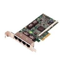 Dell Broadcom 5719 Fire porte 1 Gigabit -netværkskort lav profil, Cuskit