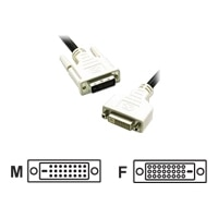 C2G - DVI forlngerkabel - dobbeltlink - DVI-D (han) - DVI-D (hun) - 2 m