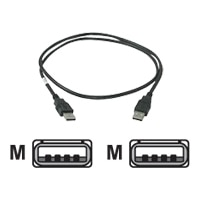 C2G - USB-kabel - 4-PIN USB type A (han) - 4-PIN USB type A (han) - 1 m ( USB / Hi-Speed USB ) - sort
