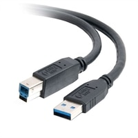 C2G - USB-kabel - 9 pin USB Type A (han) - 9 pin USB Type B (han) - 2 m (6.56 ft) ( USB 3.0 ) - sort