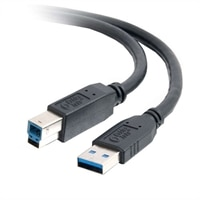 C2G - USB-kabel - 9 pin USB Type A (han) - 9 pin USB Type B (han) - 3 m (9.84 ft) ( USB 3.0 ) - sort