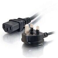 C2G Universal Power Cord - Strømkabel - IEC 320 EN 60320 C13 - BS 1363 (han) - 1 m - støbt - sort