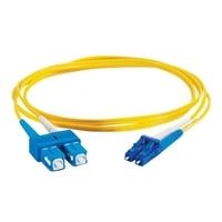 C2G LC-SC 9/125 OS1 Duplex Singlemode PVC Fiber Optic Cable (LSZH) - patchkabel - 1 m - gul