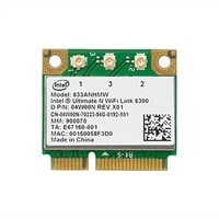 Wireless: EMEA Intel Pro Wireless 6300 (802.11 a/b/g/Draft-n 3X3) Mini - Karte (Einbausatz)