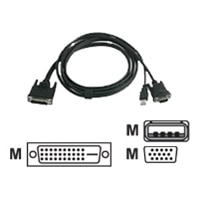 C2G - Projektorkabel - M1 (M) - USB Typ A, 4-polig, HD-15 (M) - 2 m