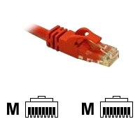 C2G Cat6 550MHz Snagless Patch Cable - Patch-Kabel - RJ-45 (M) - RJ-45 (M) - 1 m - CAT 6 - gepresst, verseilt, glatt - Rot