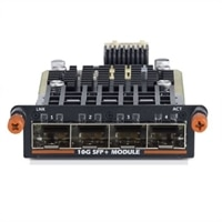 SFP+ 10GbE Module, Quad Port, Hot Swap, 4x SFP+ ports (optics or direct attach cables required), CustKit