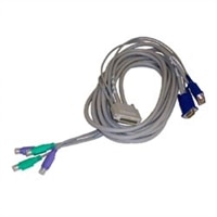 Dell - 3,6 m - Kabel für Tastatur, Monitor und Maus - Für 2x16-Port-Switchbox - Kit