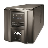 APC Smart-UPS 750 LCD - USV - Wechselstrom 230 V - 500-watt - 750 VA - RS-232, USB - 6 Ausgangsstecker - Schwarz