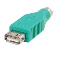 C2G - PS/2 (Stecker) auf USB A (Buchsen) Adapter - Grün