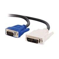 C2G - VGA (Stecker) auf DVI-A (Stecker) Kabel - Schwarz - 1m