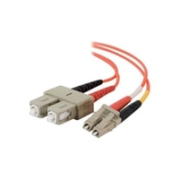C2G LC-SC 50/125 OM2 Duplex Multimode PVC Fiber Optic Cable (LSZH) - Netzwerkkabel - 30 m - orange