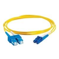 C2G LC-SC 9/125 OS1 Duplex Singlemode PVC Fiber Optic Cable (LSZH) - Patch-Kabel - 1 m - Gelb