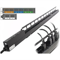 PDU, 16A, 400V, 3-Phase, 11kW, 21x C13 + 6x C19, Vertikale, mit IEC309-16 3M Kabel
