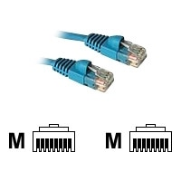 C2G Enhanced Cat5E 350MHz Snagless Patch Cable - Patch-Kabel - RJ-45 (M) - RJ-45 (M) - 1 m - CAT 5e - gepresst, verseilt, glatt, mit Knickschutz - Blau