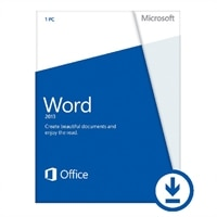Microsoft Word 2013 - Lizenz - 1 PC - Download - Win - Deutsch - 32/64-bit, über elektronische Verteilung geliefert, Click-to-Run