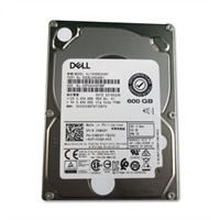 Dell 10,000 RPM Σκληρός δίσκος Serial Attached SAS 12Gbps 2.5 ιντσών δίσκου με δυνατότητα σύνδεσης εν ώρα λειτουργίας, 3.5 ιντσών Υβριδική θήκη - 600 GB, CusKit