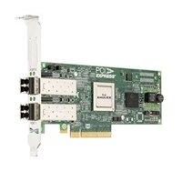 Dell Emulex LPE 12002, Dual Port 8Gb καναλιού οπτικών ινών Προσαρμογέας διαύλου κεντρικού υπολογιστή (HBA),  πλήρους ύψους, CusKit