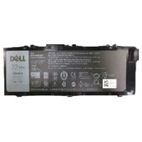 κύρια μπαταρία ιόντων λιθίου 72 WHr 6 στοιχείων Dell